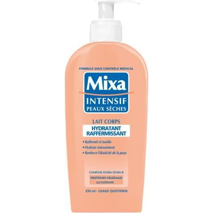 mixa intensif peaux s ches hydra raffermiss 250ml achat vente hydratant corps mixa hydra. Black Bedroom Furniture Sets. Home Design Ideas