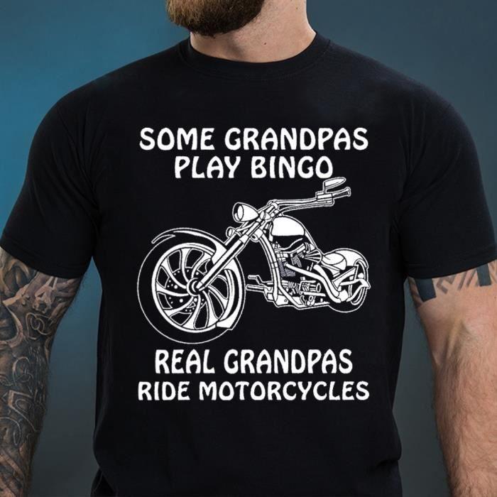 Grand p/ère biker fan moto T-Shirt Homme Cadeau papy motard qui d/échire
