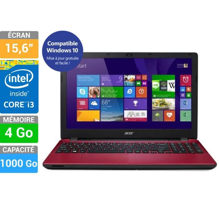 acer pc portable aspire e5 571 rouge prix pas cher cdiscount. Black Bedroom Furniture Sets. Home Design Ideas