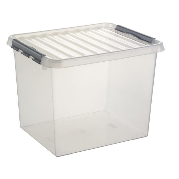 Grande Boite Plastique De Rangement 52l Achat Vente Boite De Rangement Plastique Cdiscount