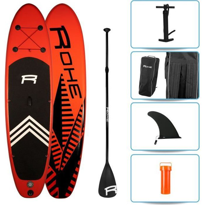 STAND UP PADDLE ROHE Pack Paddle Gonflable Keai - 325x76x15cm - Av