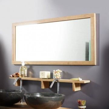 miroir en teck bahia duo 100x50 achat vente miroir. Black Bedroom Furniture Sets. Home Design Ideas
