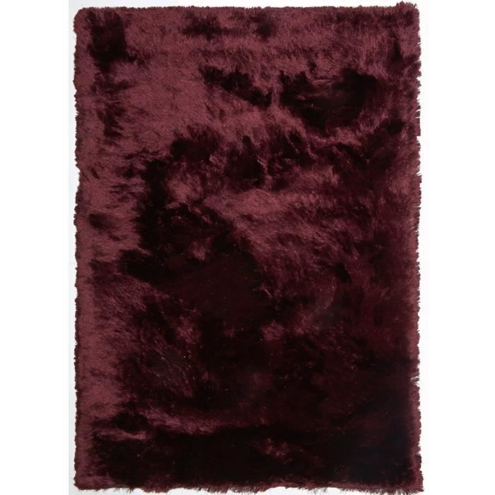tapis longs poils shaggy fin violet 200x290 tapis shaggy. Black Bedroom Furniture Sets. Home Design Ideas