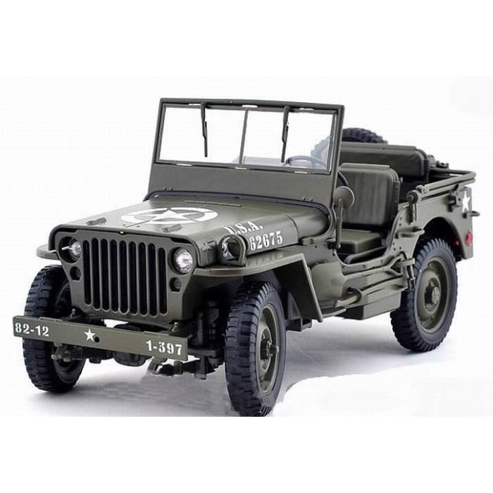 voiture miniature jeep willys 1942 us army welly 1 18 achat vente voiture camion cdiscount. Black Bedroom Furniture Sets. Home Design Ideas