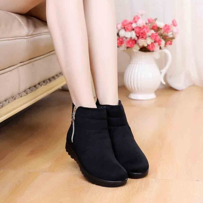 Veberge Femme Boot Femmes 5884 Chaussures Casual Hiver Neige Chaud aged Bottine Bottes Moyen gfRqWwaPy