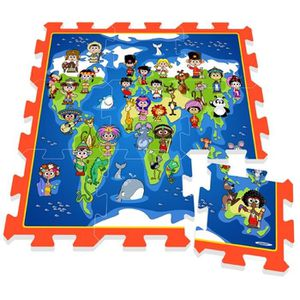 STAMP Tapis Puzzle bébé en Mousse Enfants Planisph?re
