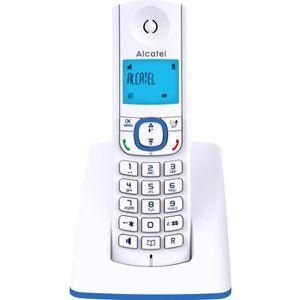 Téléphone fixe Alcatel F530 solo bleu