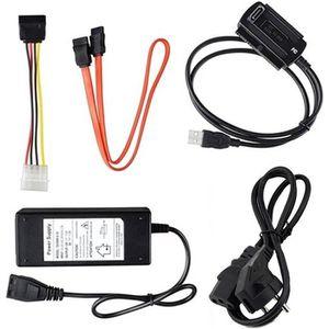 CÂBLE INFORMATIQUE Adaptateur IDE SATA vers USB 2.0 pour 3'5 2'5 Adap