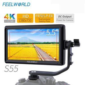 CAMÉRA DE SURVEILLANCE FEELWORLD S55 5.5 pouces IPS appareil photo reflex