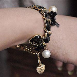 BRACELET - GOURMETTE Fosenme WSM60922092 Mode Femmes Leopard Coeur Diam