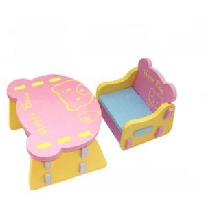 TABLE ET CHAISE Table et chaise ensemble Rose forme d'ours Mousse