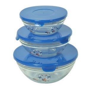 BOITES DE CONSERVATION Boite de conservation 3 Bols en verre gigognes Ble