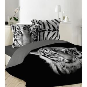 couette imprimee noir et blanc achat vente couette. Black Bedroom Furniture Sets. Home Design Ideas