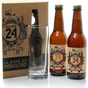 BIÈRE Coffret de 2 bières + 1 verre Brasserie Artisanale