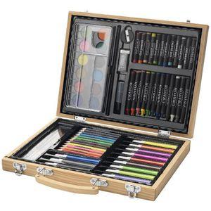 Pack écriture Boite de 67 crayons, feutres et peinture