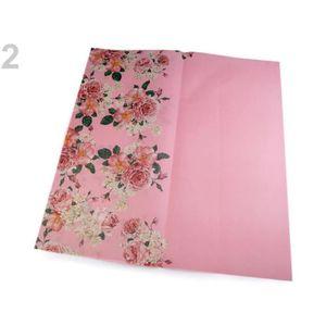 PAPIER CADEAU 4pc Lumière Rose Décorative / Papier d'Emballage 5