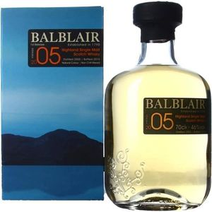 WHISKY BOURBON SCOTCH Balblair 2005  46° 70cl