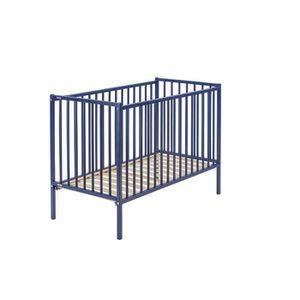 LIT BÉBÉ COMBELLE LIT REMI 70x140 laque bleu