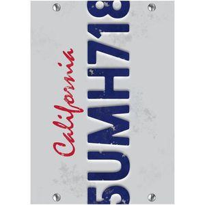 TABLEAU - TOILE gs cadre plexi 21x29 cm plaque californie