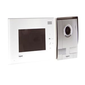 legrand interphone vid o cran tactile 7 avec 1 poste. Black Bedroom Furniture Sets. Home Design Ideas