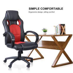 CHAISE DE BUREAU LESHP® Gaming Fauteuil roulant Ergonomique chaise