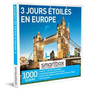 COFFRET SÉJOUR Coffret Cadeau - 3 jours étoilés en Europe - Smart