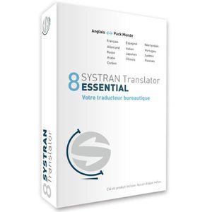 BUREAUTIQUE Systran 8 Translator Essential - Pack Anglais-Mond