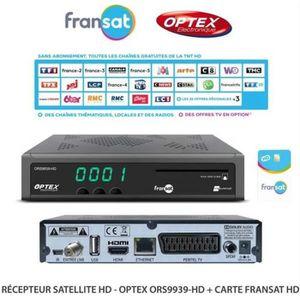 RÉCEPTEUR - DÉCODEUR   TECHWOOD FRANSAT HD Décodeur satellite + Carte FRA
