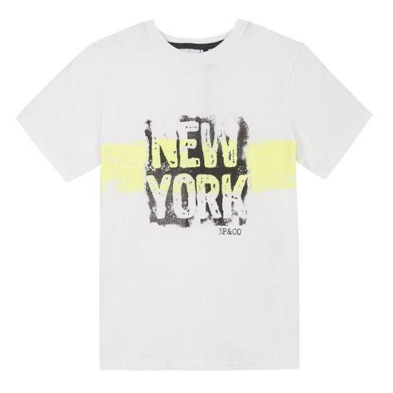 3 Pommes tee Shirt Ecru Bebe Garcon Camiseta para Beb/és