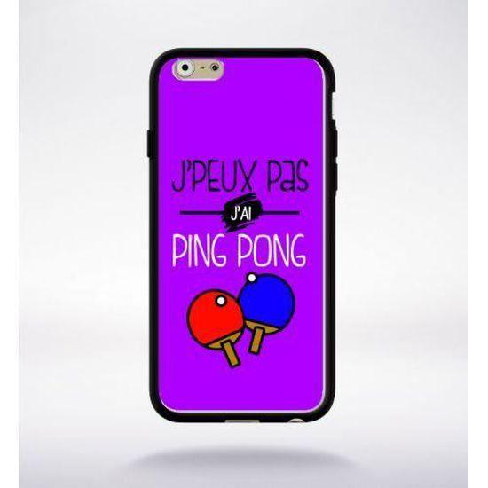 Coque j'peux pas j'ai ping pong 5 compatible iphone 6 bord noir ...