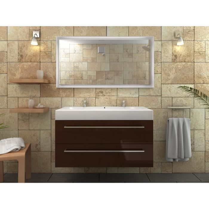 mona ensemble salle de bain double vasque 100cm achat vente ensemble meuble sdb mona double. Black Bedroom Furniture Sets. Home Design Ideas