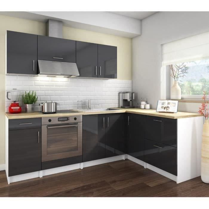 cosy cuisine compl te 2m80 laqu gris achat vente cuisine compl te cosy cuisine compl te. Black Bedroom Furniture Sets. Home Design Ideas