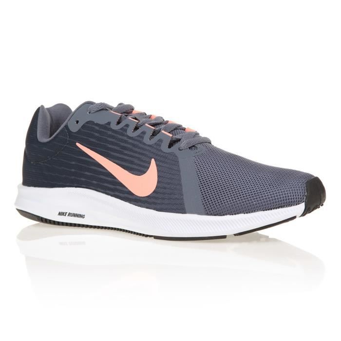 official photos 3ed10 864cb BASKET NIKE Chaussures Downshifter 8 - Femme - Gris et Or