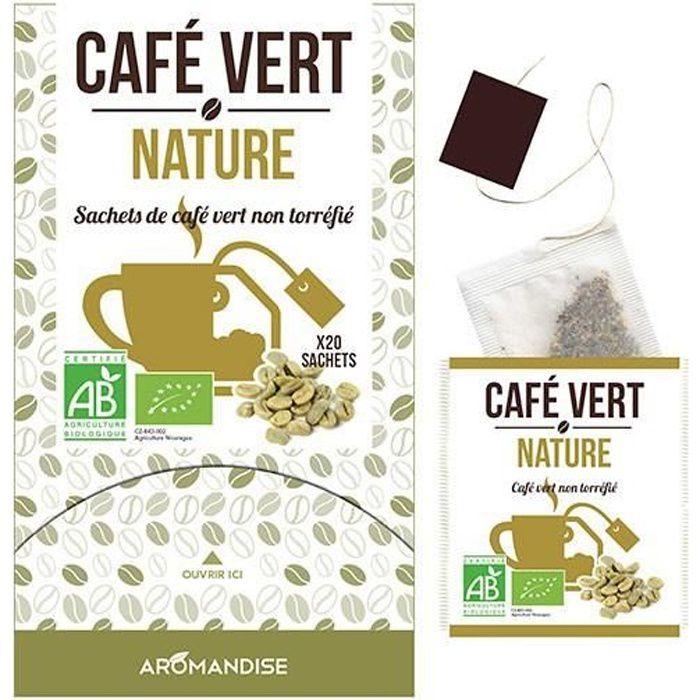 20 Sachets de café vert BIO non torréfié