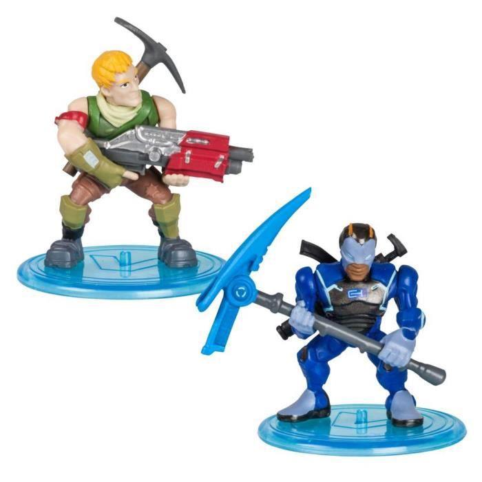 FORTNITE Battle Royale - Pack Duo Figurines 5cm - Sergeant Jonesy & Carbide