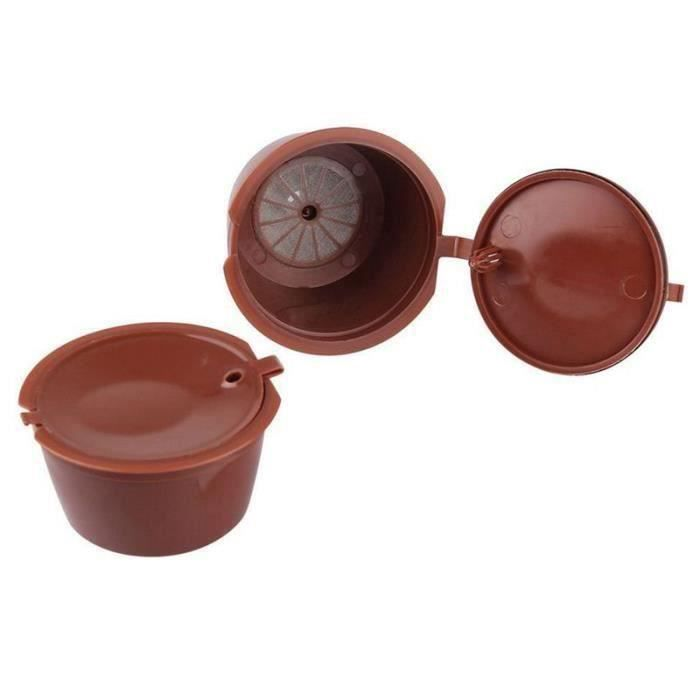 6 Tasse Nestle de capsules remplies rechargeables Compatible avec Mini Me, Genius, Small, Expert et Circle