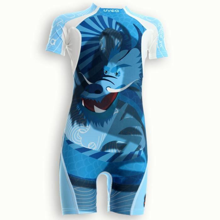 UVEA Combinaison maillot de bain kidsguard anti UV 80+ Manly - Taille 9/18 mois - Imprimé dragoon
