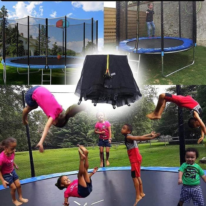 Exterieur Enfant Filet Trampoline Ø10FT-12FT-13FT-15FT, Filet De Remplacement De Trampoline avec Zip, pour Enfants89