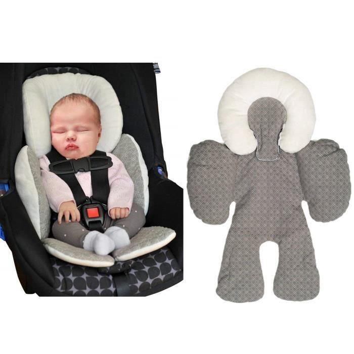 Bébé Enfant Soutien Coussin Landau Poussette Siège Auto Reducteur Confort (Gris) - Par B25621