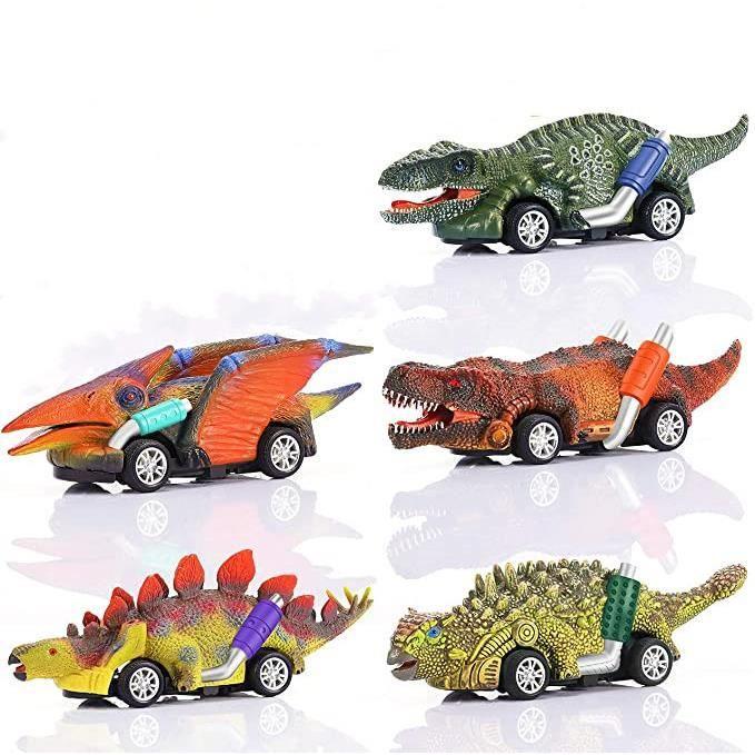 Jouet Garcon 2-8 Ans, Jouets pour Garcon de 2-5 Ans Voiture de Jouet de Dinosaure Cadeau Garçon 2 3 4 5 Ans d'Anniversaire