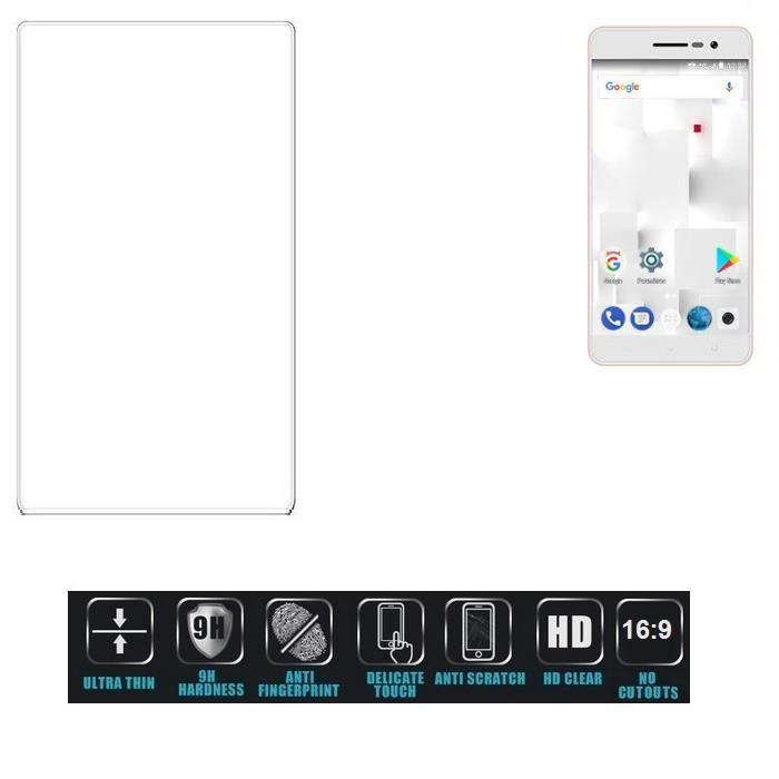 K-S-Trade Film Protection en Verre compatible avec thomson Delight TH201 trempé écran Protecteur Ultra Résistant Dureté 9H