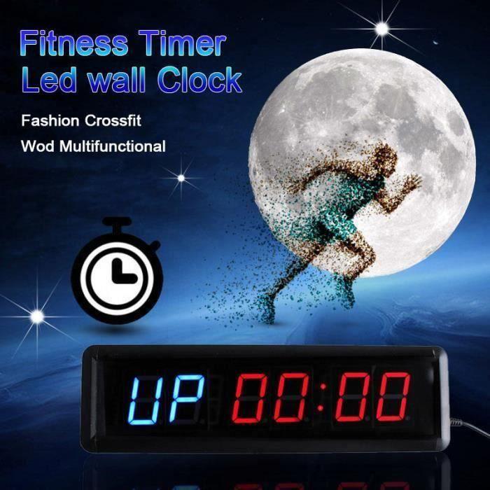 TEMPSA 13.5Pouce Pro Minuterie de fitness sport timer minuteur multifonctionnelle pr Gym Match de boxe maison EU PRISE