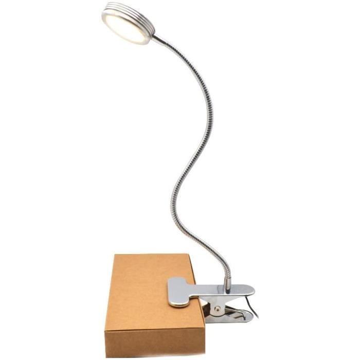 Adaptateurs secteur pour liseuses Lampe de lecture Bureau LED à Pince - USB Lampe LED à clipser de table 4W, clipsable v 16353