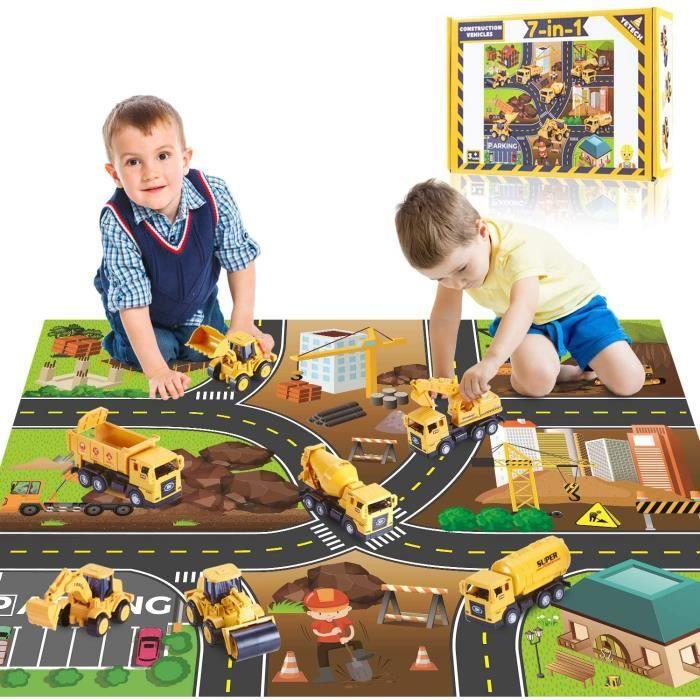 VEHICULE A CONSTRUIRE ENGIN TERRESTRE A CONSTRUIREYetech V&eacutehicules de Construction pour Enfant,7 en 1 Vehicules de Chan370