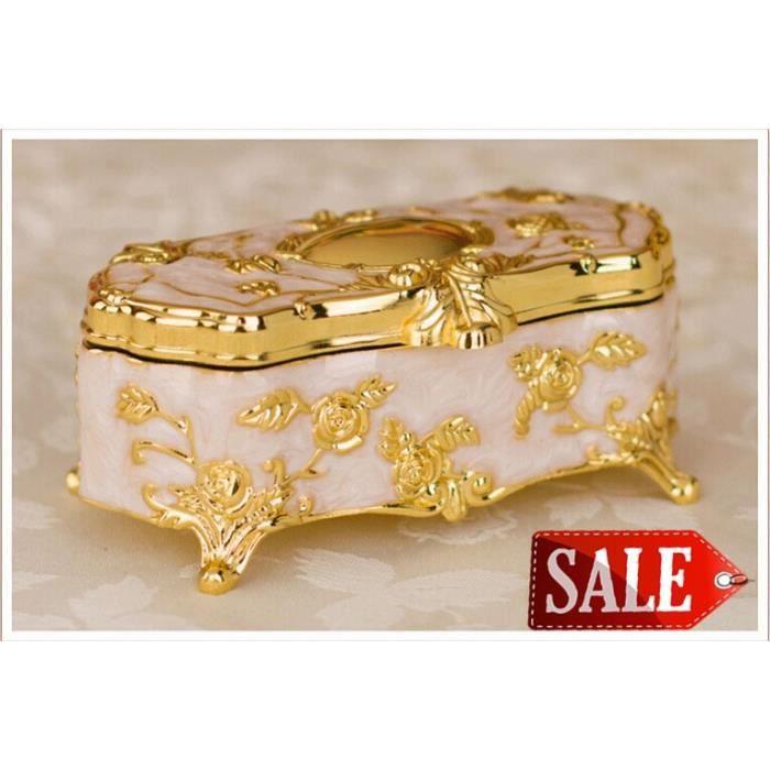 Ustensile de cuisine,Boîte à bijoux en alliage de Zinc, boîte à bijoux en coton tige, cure dents décoratifs en bois, ornements