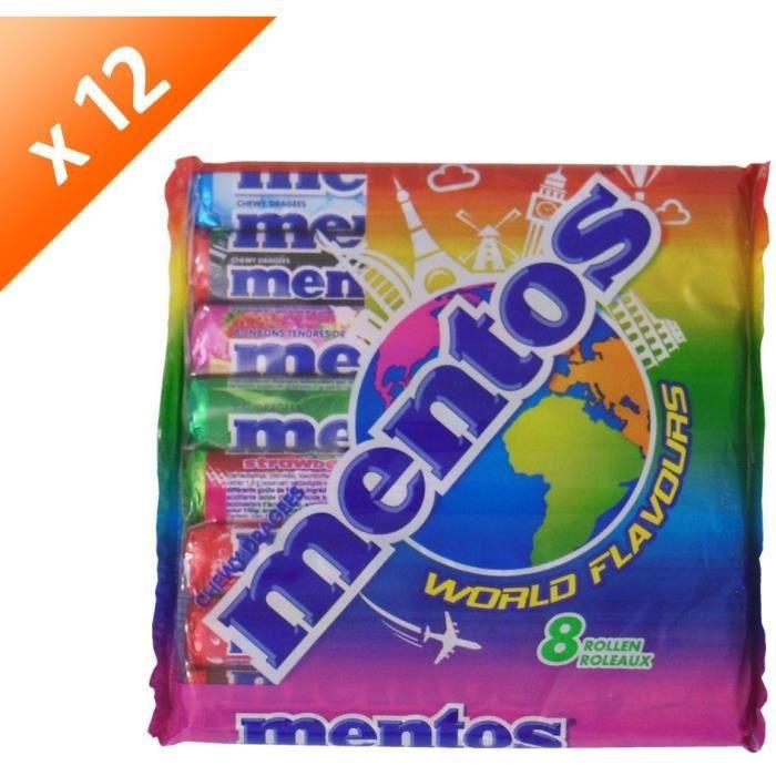 [LOT DE 12] MENTOS Pack de 8 rouleaux assortis - World Flavours