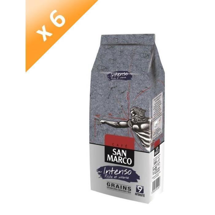 SAN MARCO Lot de 6 Cafés Intenso Grain - 500 g