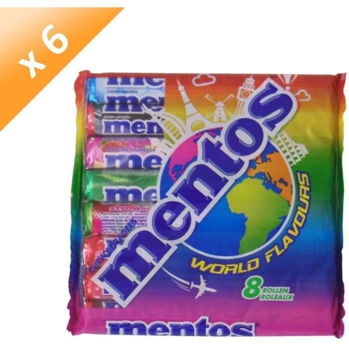 [LOT DE 6] MENTOS Pack de 8 rouleaux assortis - World Flavours