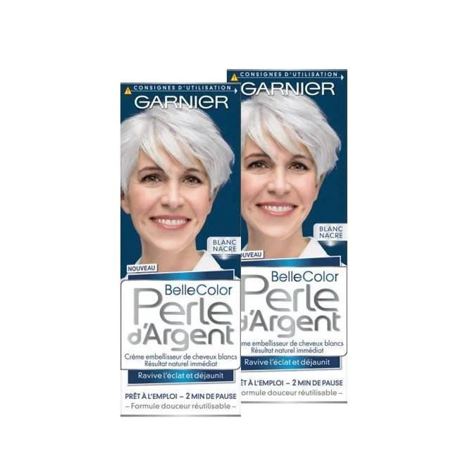 GARNIER Belle Color Perle d'Argent Coloration permanente - Blanc Nacre - 115 ml (Lot de 2)