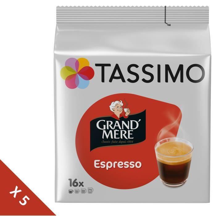 Lot de 5 - Tassimo Grand-mère Expresso Café - 16 dosettes -104g